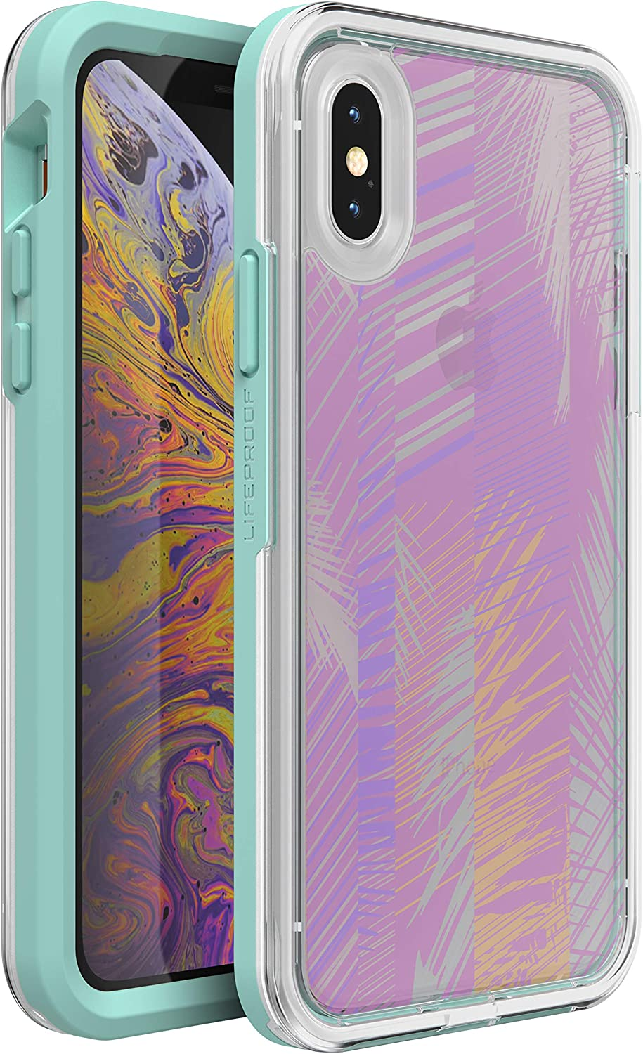 LifeProof SLAM Series Case for iPhone XR - Retail Packaging - Palm Daze