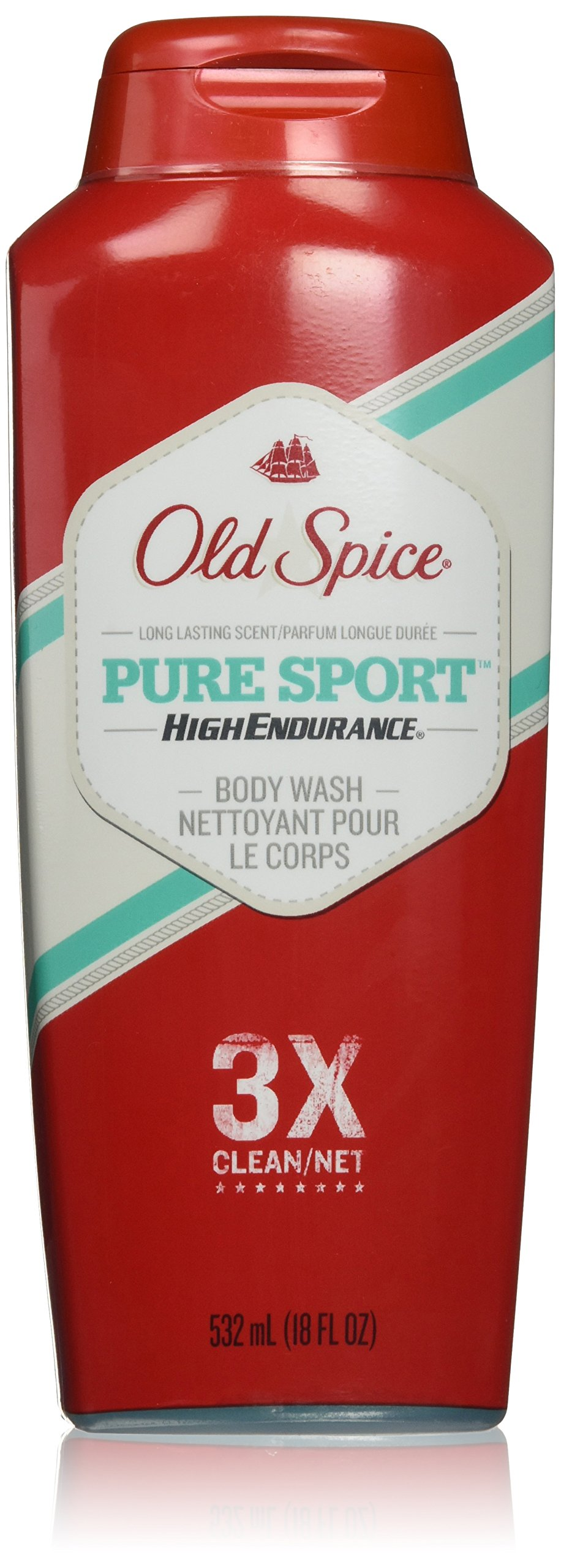 Old Spice High Endurance Body Wash, Pure Sport, 2 Count