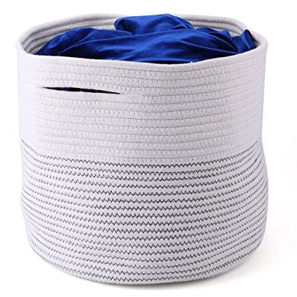 Merveilleux Tosnail 13 X 15 X 15 Inches Large Storage Baskets Cotton Rope Woven Storage  Bins