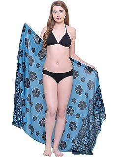 9e29bedfc5 TC Soft 100% Pure Cotton Breathable Womens Swim Beach Sarong Pareo Wrap  Skirt Swim Cover