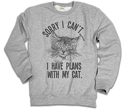 4eeb458a6f3 Sorry I Cant.I Have Plans with My Cat Ladies   Mens Unisex Loose Fit Slogan  Sweater  Amazon.co.uk  Clothing
