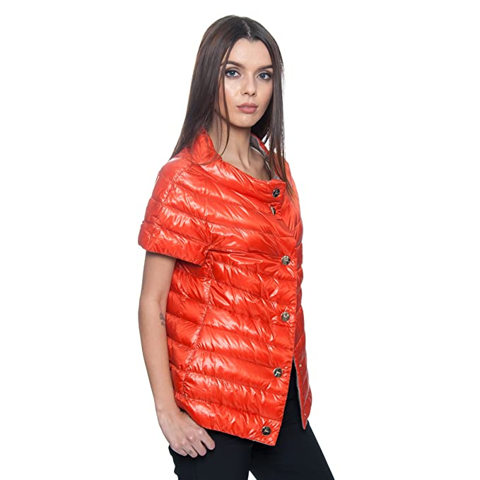 731f20e6a2b Amazon.com: Herno Women's Reversible Orange Silver Quilted Jacket ...