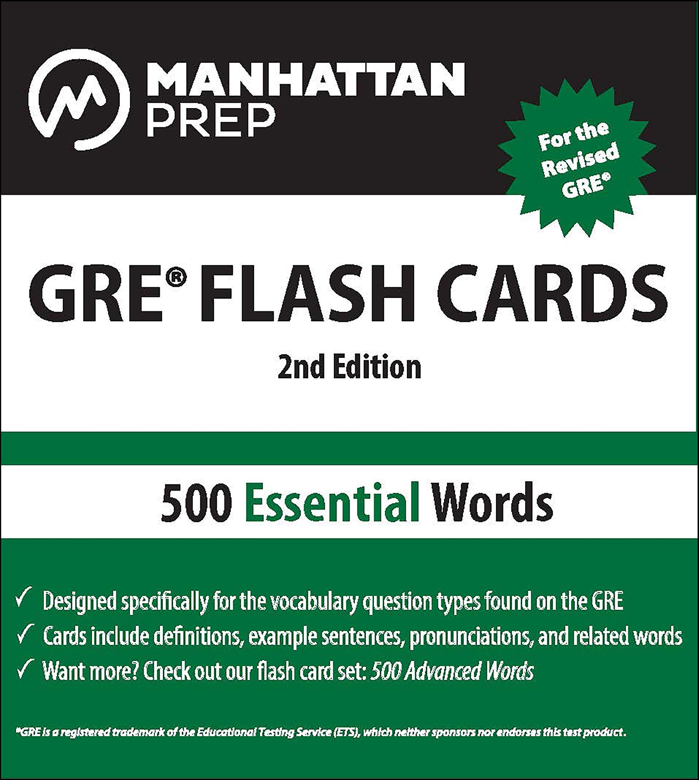 500 Essential Words: GRE Vocabulary Flash Cards Manhattan Prep GRE