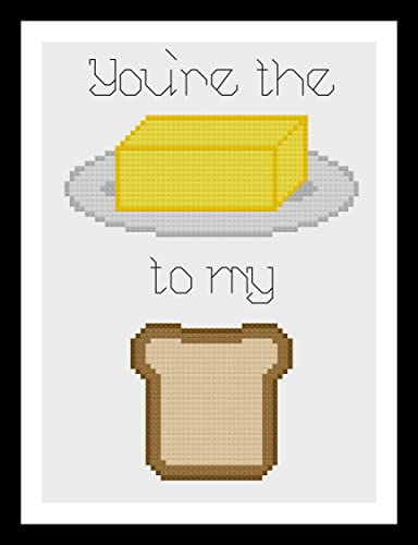 Amazon com: Counted Cross Stitch Pattern  You're the butter to my
