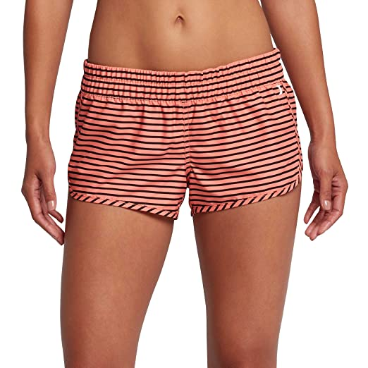 30a3f63767 Hurley Supersuede Stripe Beachrider Women's Boardshorts - Light Wild Mango  - L