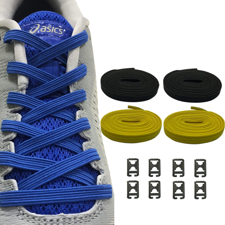 Ueither Sin Corbata Cordones Elásticos para Zapatos, Plana Un ...