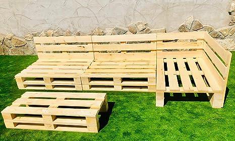 Conjunto RINCONERA con PALETS Europeos Mesa,Interior/Exterior NUEVOS A ESTRENAR 3.2m X 1.2m: Amazon.es: Hogar