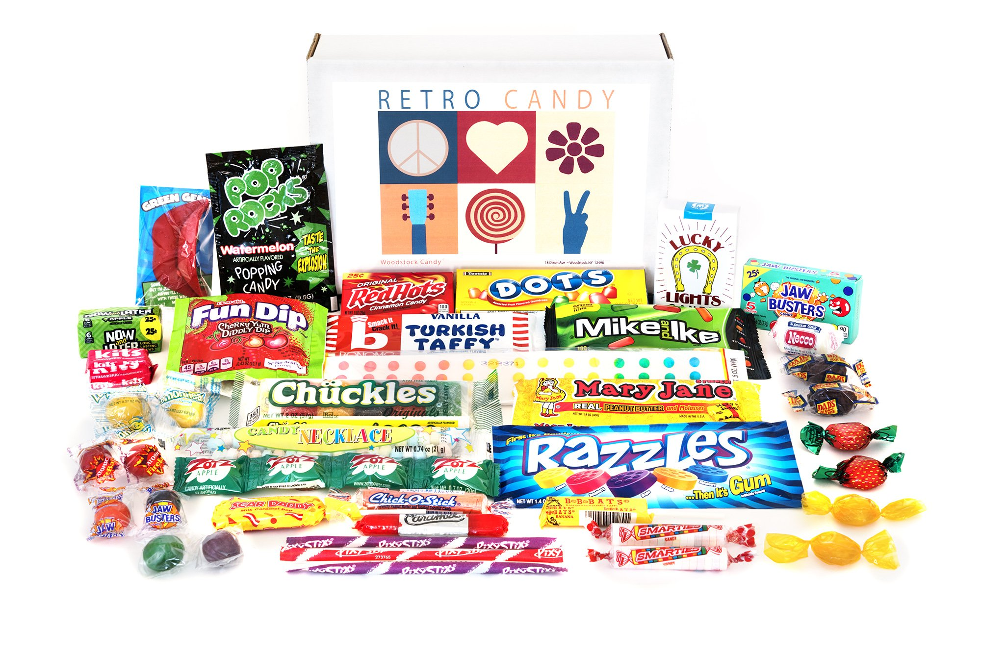 Woodstock Candy ~ Care Package Assortment Gift Box Retro Nostalgic Candy Mix from Childhood for Man or Woman Jr