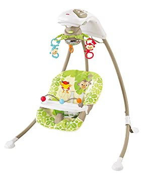 fisher price rainforest friends cradle n swing amazon ca baby rh amazon ca Fisher-Price Swing Away Mobile Rainforest Swing Replacement Parts