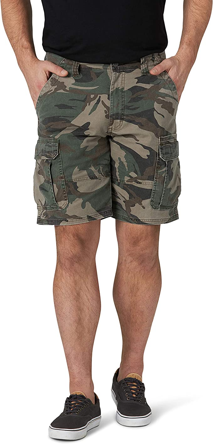 Wrangler Mens Classic Relaxed Fit Stretch Cargo Short Shorts