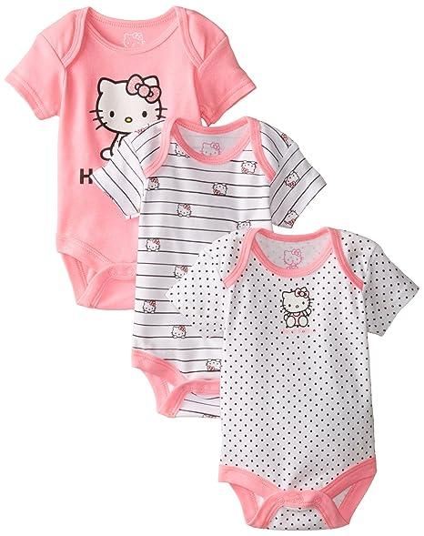Amazon.com: Hello Kitty Baby Baby-Girls recién nacido 3 Pack ...