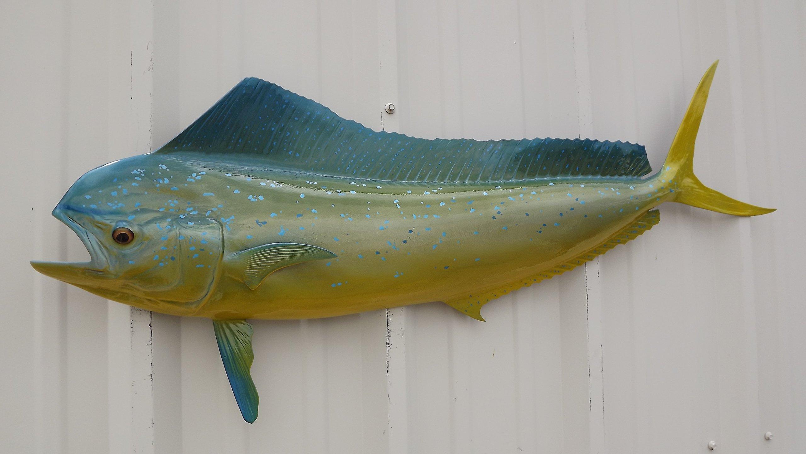 42'' Cow Mahi Half Sided Fish Mount Replica, Affordable Coastal Decor - Indoors Or Outside