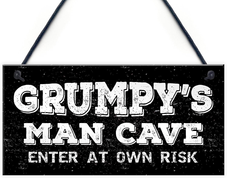 Grumpy's Man Cave Man Cave Novelty Gift Bar Metal Plaque/Sign Pub ...