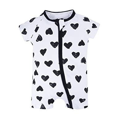 92e0481e0 BIG ELEPHANT Baby Girls 1 Piece Summer Short Sleeve Pajama Graphic ...