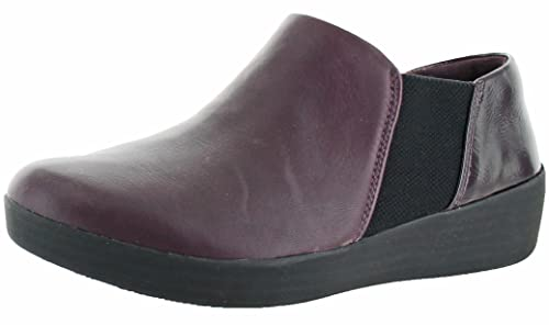 Fitflop Superchelsea Slip-Ons - Botines de mujer en color morado (Deep Plum Mix
