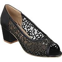 XE Looks Peep Toes Block Heel Sandals for Women