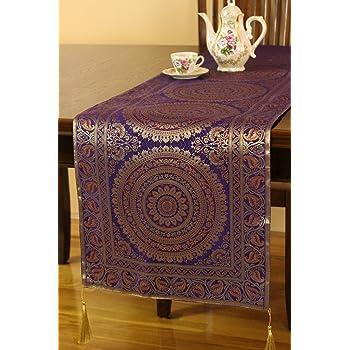 Bon Exotic Oriental Table Runner (Plum Purple, ...