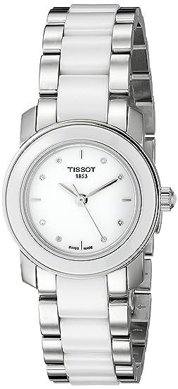 Tissot T0642102201600 - Reloj de mujer de cuarzo, correa de acero inoxidable color varios colores