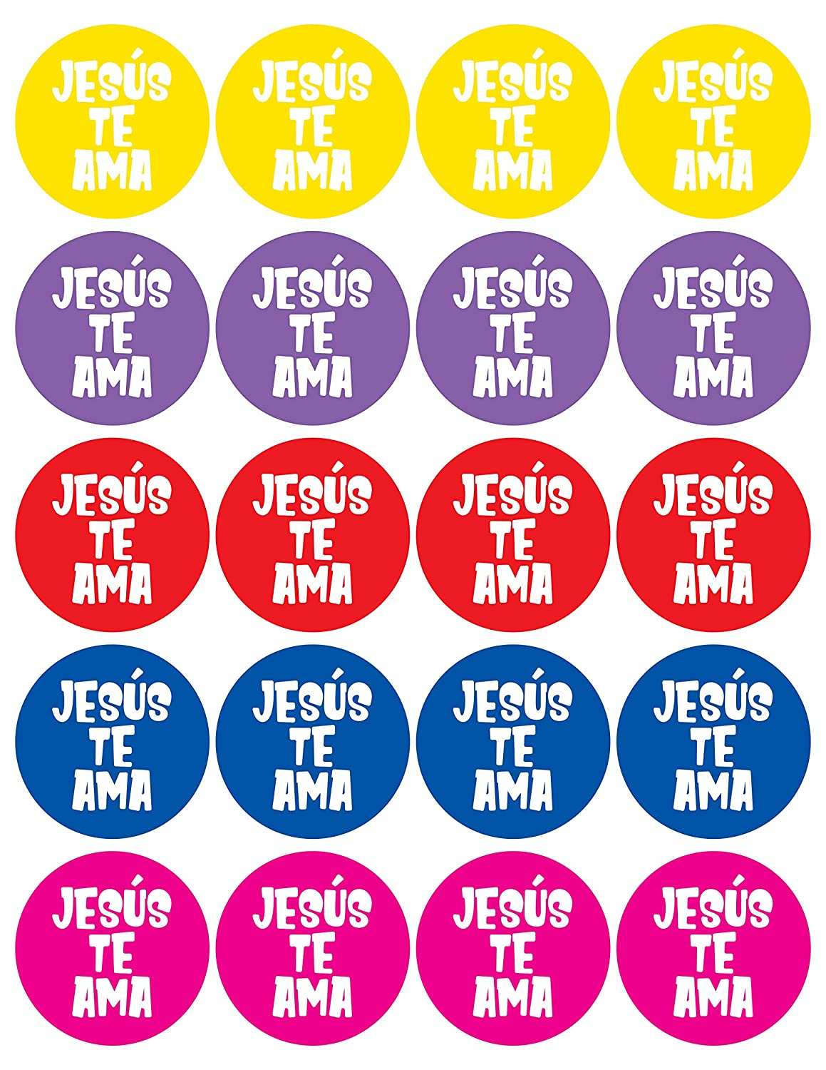 JBH Creations Spanish Jesus Loves You Stickers