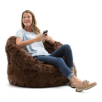 Astounding Big Joe Lux Milano In Shag Brown Ibusinesslaw Wood Chair Design Ideas Ibusinesslaworg