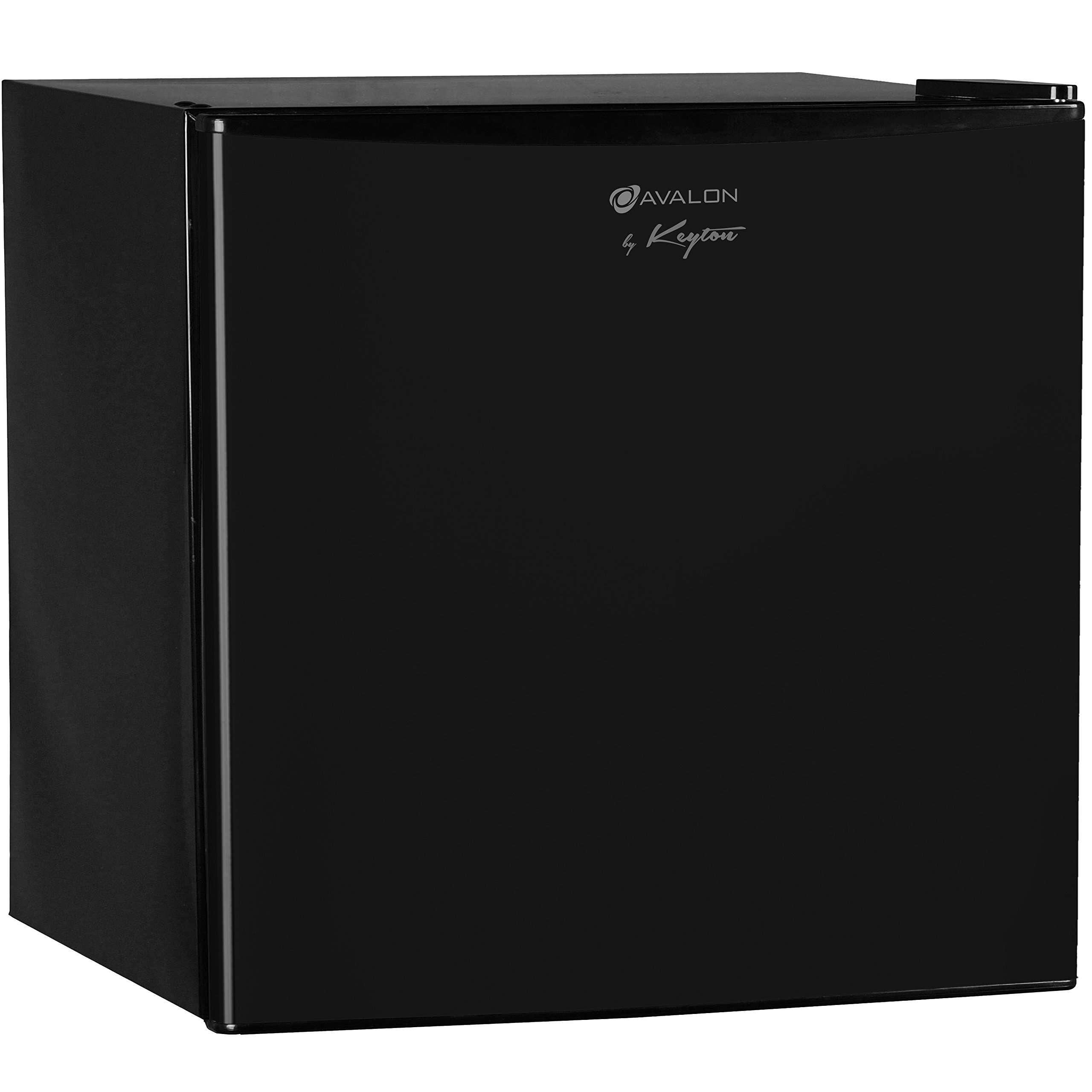 Avalon by Keyton Compact Single Door Refrigerator & Freezer- 1.6 Cubic Feet, Compact, Adjustable Legs, Separate Freezer Compartment & Adjustable Thermostat - UL & Energy Star Certified - Black