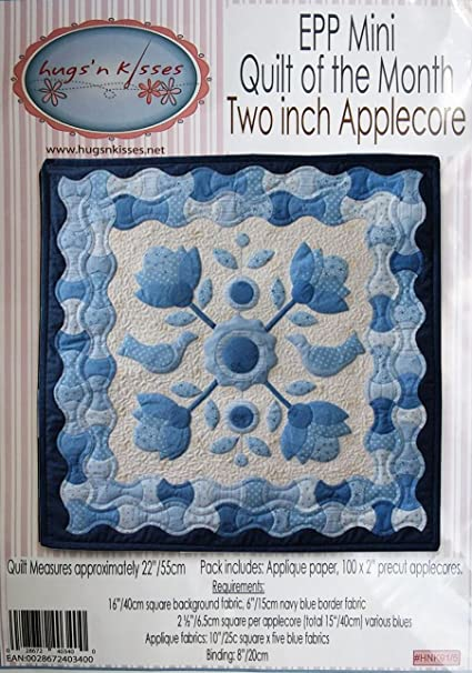 Amazon Com Hugs N Kisses Quilt Of The Month Epp Mini Quilting