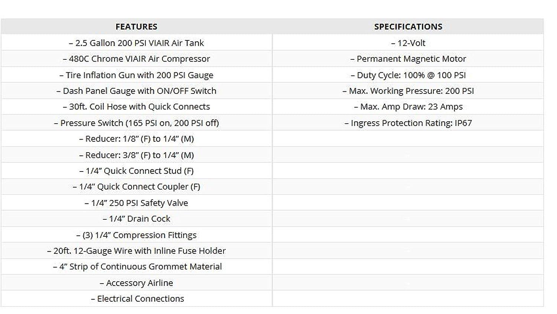 Viair 200 Psi Ultra Duty Onboard Air System Automotive 480c Wiring Diagram