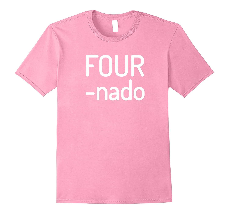 Kids Fournado Shirt Four Year Old Birthday Gift Present Vaci Vaciuk