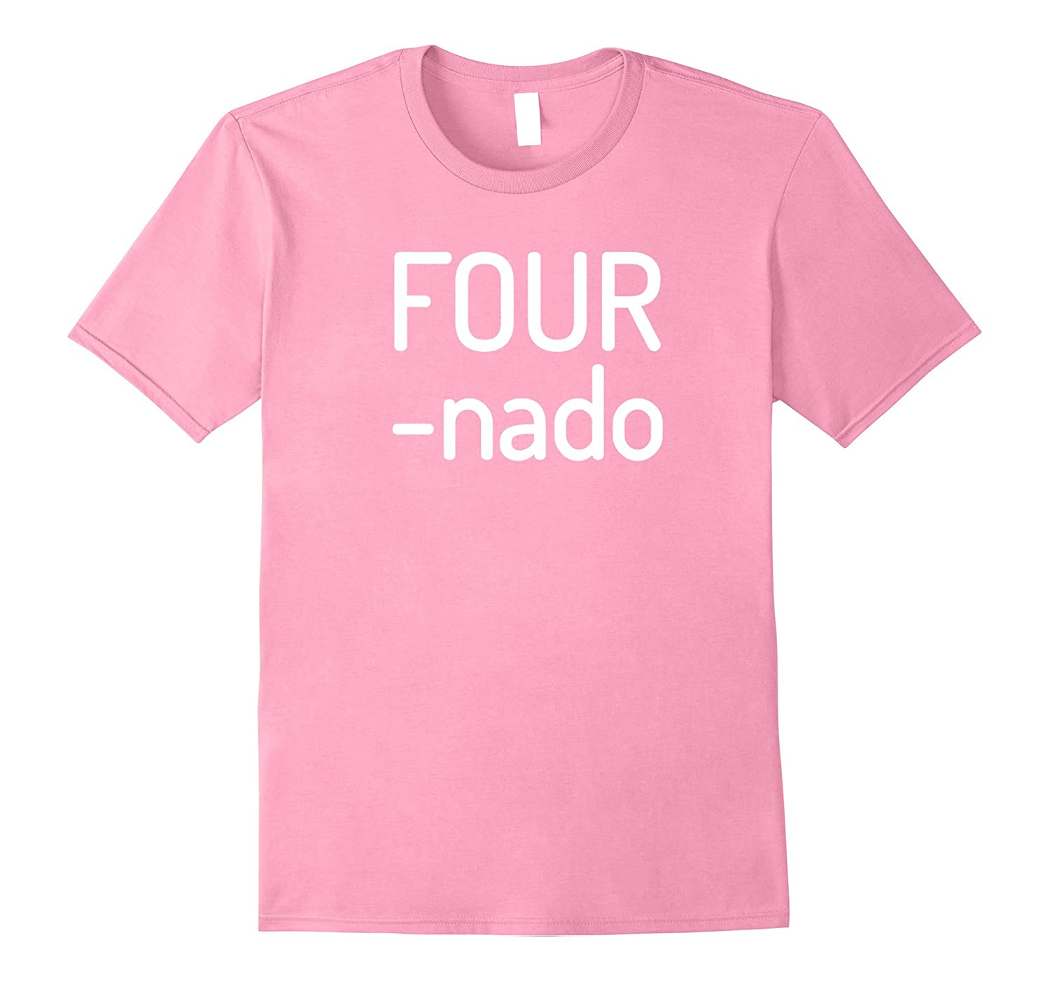 Kids Fournado Shirt Four Year Old Birthday Gift  Present-Vaci