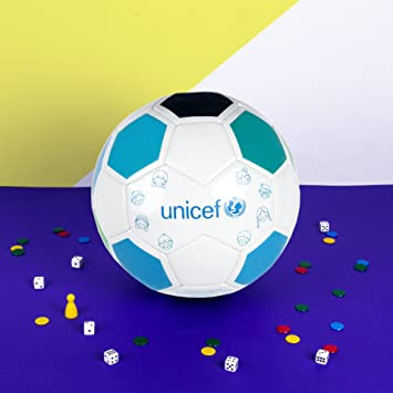 Unicef - Regalo Solidario Balón, Color Blanco/Azul, 5 (forletter DB17010693)