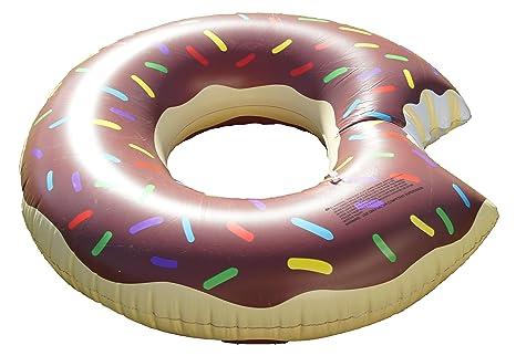 """Gran donut flotador (/36102 """"Donut Hinchable con Avisador de Style Chocolate"""