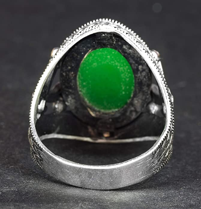 Details about  /Eagle Talon /%100 Handmade 925 Sterling Silver Mens Ring Gemstone Fathers Gift