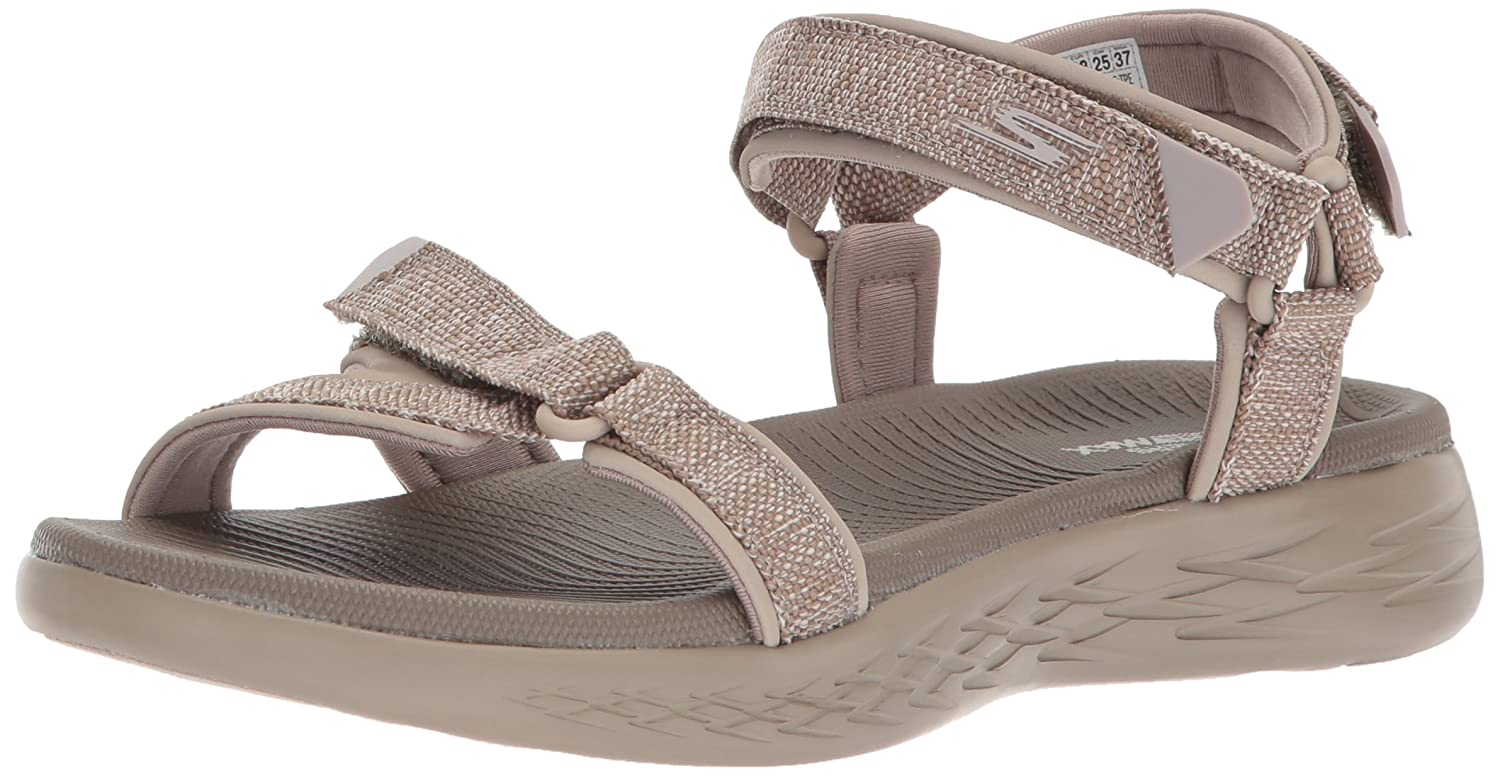 Skechers Women's on-The-Go 600-15315 Sport Sandal B072T5DWHB 11 M US|Taupe