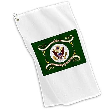 Golf/Toalla de deporte con jubilado del ejército de los Estados Unidos, bandera: Amazon.es: Deportes y aire libre