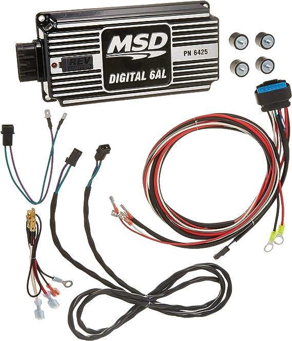 MSD Ignition 64253 Negro Digital 6AL control de ignición con control Rev Negro