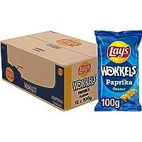 Lay's Wokkels Paprika Chips, Doos 18 stuks x 100 g