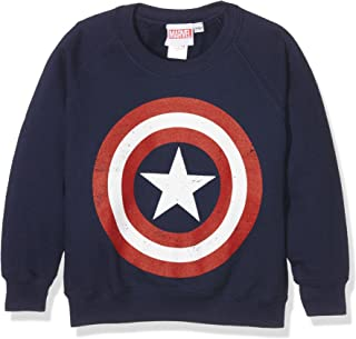 Marvel Comics-Captain America Distress Shield-Kids-Crew Sweats, Felpa Bambino RFKCS330