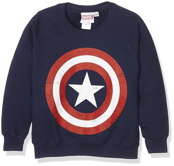Marvel Comics-Captain America Distress Shield-Kids-Crew Sweats ... f0df59f0d7ba
