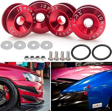 JDM CHROME ALUMINUM BUMPER QUICK RELEASE FASTENER KIT for Toyota Celica Corolla