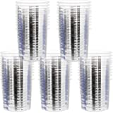 STYGALO 50 Pcs 20oz Disposable Graduated Clear Plastic Measuring Cups 600ml Epoxy Resin Mixing Cups for Paint, Pigments, Art