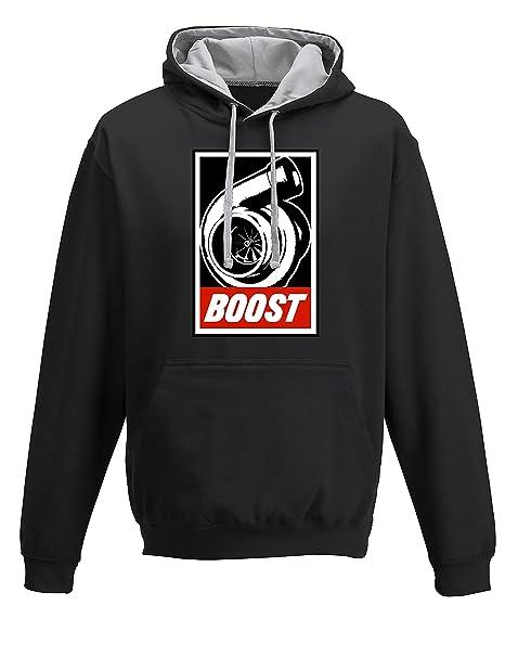 Petrolhead: Boost - Sudadera con Capucha Motor - Regalo Hombre - Hoodie Racing - Sweatshirt