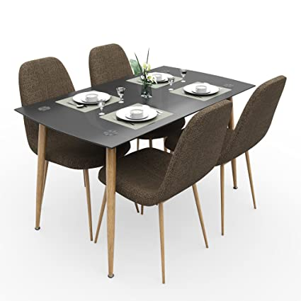 Forzza Logan Four Seater Dining Table Set (Beige)  Amazon.in  Home ... 55a4602fb