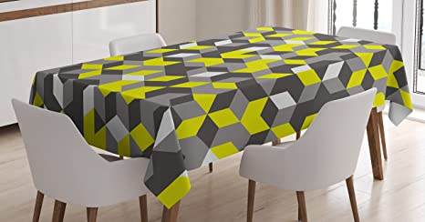 Tablecloth Modern Rectangular 3D print Table Cover dining room Decor Polyester