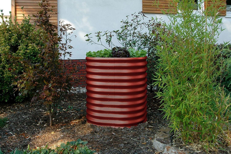 Bancal de metal de vitavia, redondo, color rojo: Amazon.es: Jardín