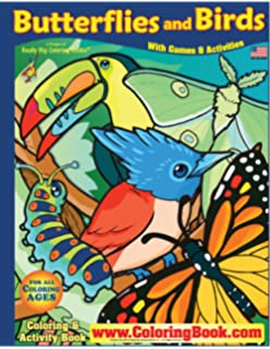 butterflies birds really big coloring book 17x23 - Big Coloring Books