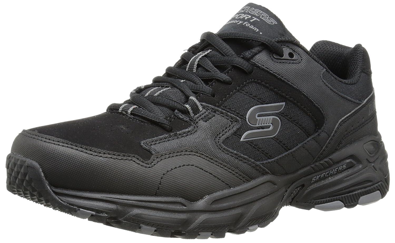 Skechers Sport Men's Vigor 2.0 Trait Memory Foam Sneaker, Charcoal/Black, 12 M US