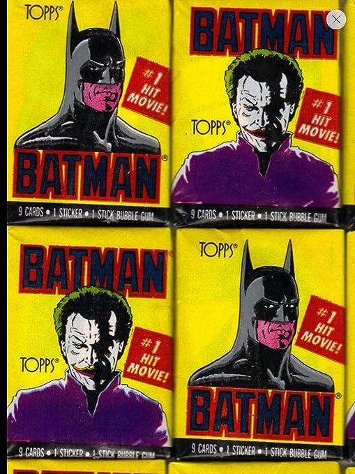 Batman Topps Trading Cards Series 2 1989-23 Unopened packs
