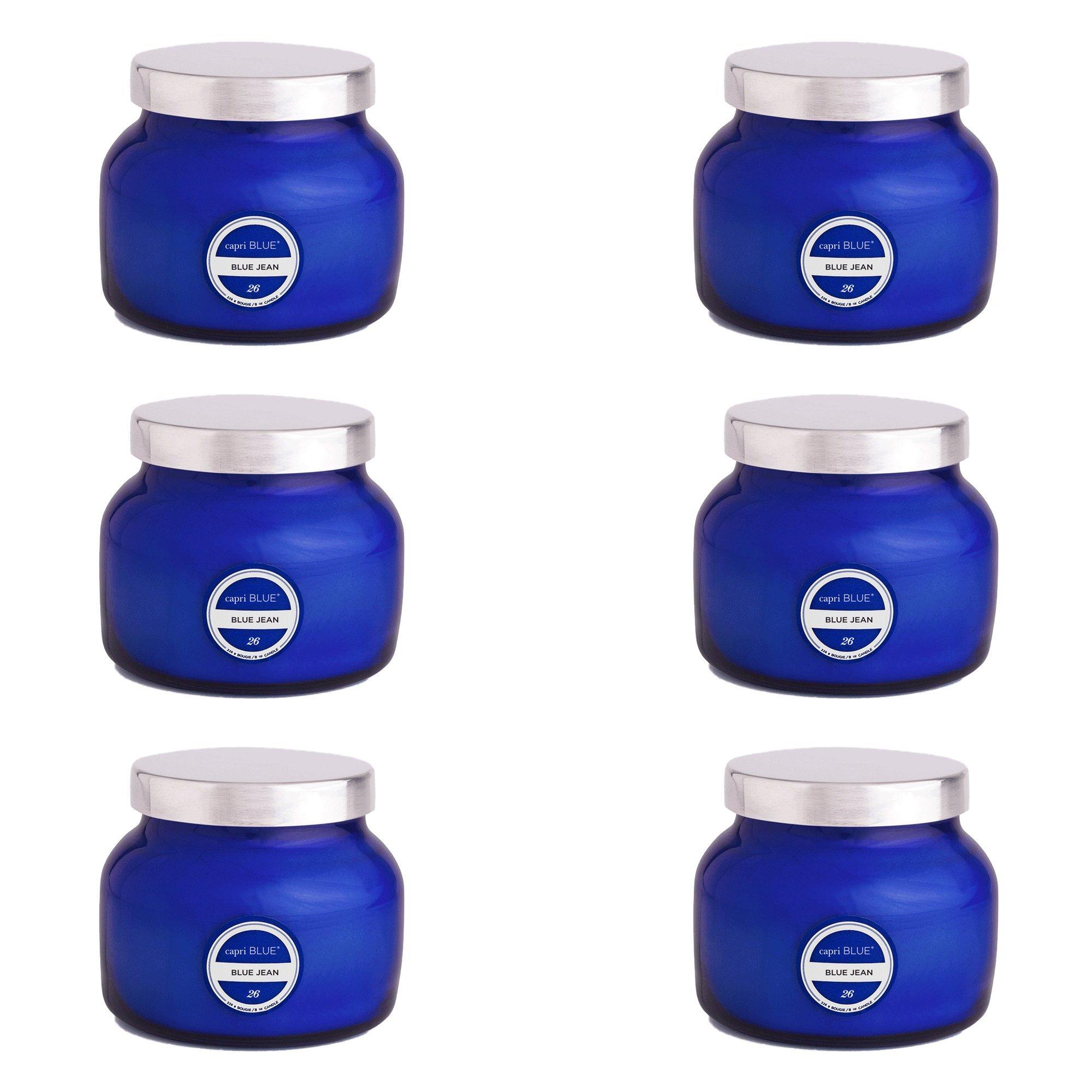 Capri Blue 8 oz Signature Petite Blue Jar Blue Jean (6 pack), Assorted, One Size by Capri Blue