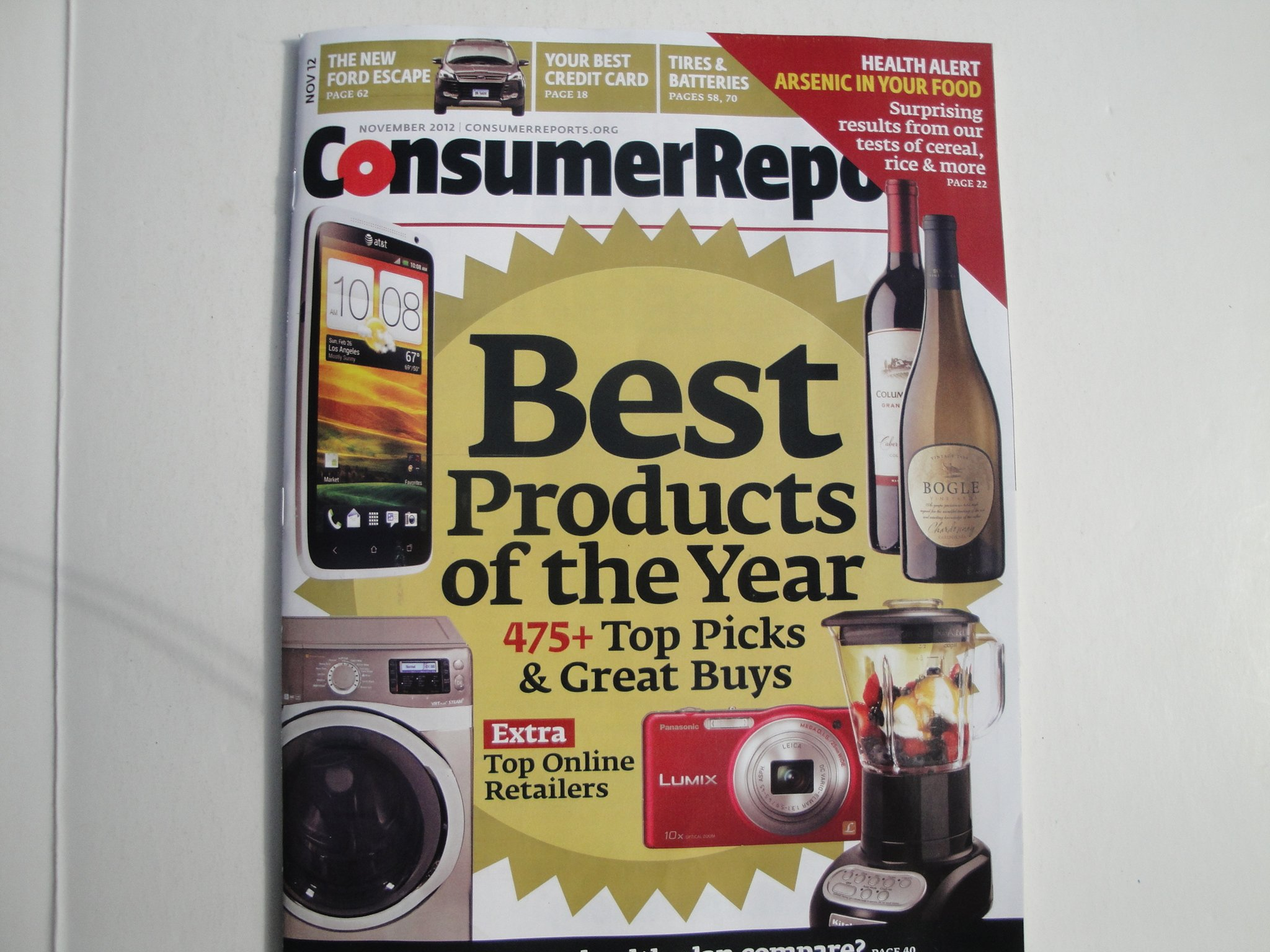 Download Consumer Reports Magazine: Best Products of the Year November 2012 (475+ Top Picks & Great Buys) ebook