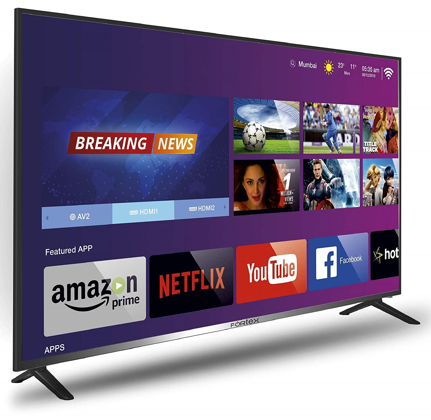 4K Ultra HD Fortex (55 inches) Smart LED TV FX55Spro01
